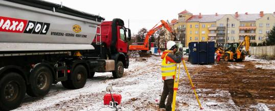"""Rozpoczęliśmy prace geodezyjne przy budowie """"PSB Mrówka"""" w Koziegłowach"""